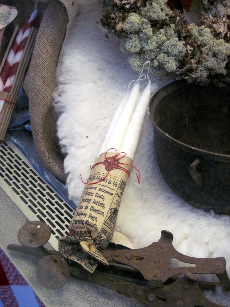 Handstöpta ljus - käsinkastettuja kynttilöitä