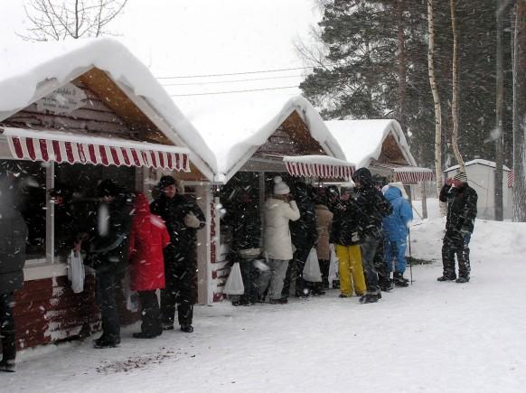 Julmarknad på Sandholmsudden - Santasaaren joulumarkkinat